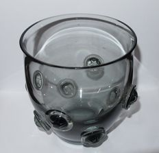 Leerdam Glasfabriek / A.D. Copier - knob vase with stars
