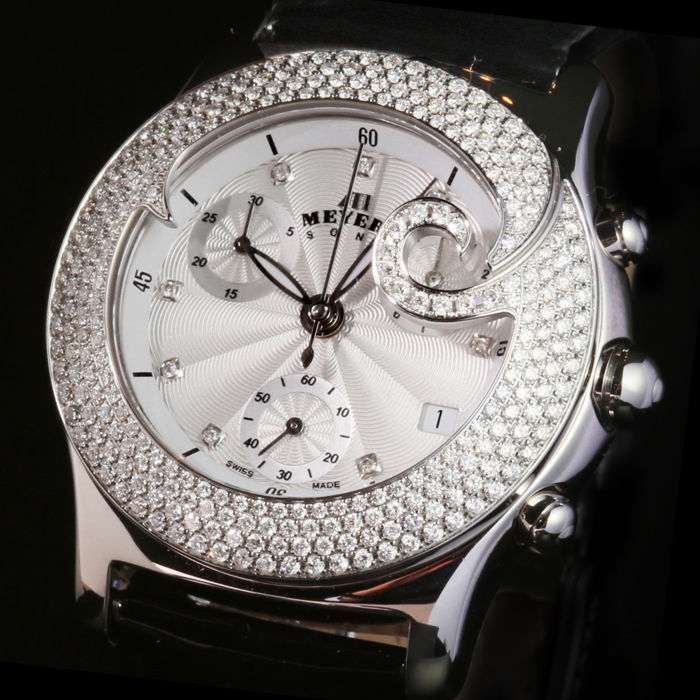 MEYERS Lady Diamond Tattoo - Ladies Wristwatch  -  With 288 diamonds