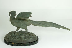 Large bronze sculpture of a pheasant - France - circa 1900