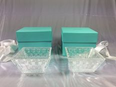 Tiffany & Co, two New crystal cups