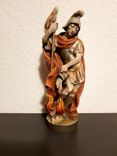 Wooden figure of Saint Florian - approx. 25 cm