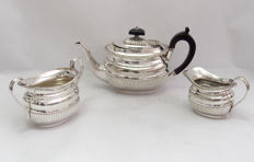 Antique Silver Plated Small Tea Set By Hukin & Heath, Birmingham, England - Late 19th Century