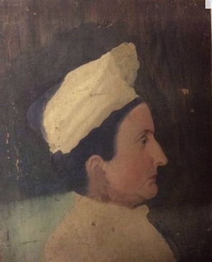 (Lot of two paintings) Anonymous (19th century) Untitled