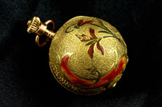 Bautte - important 14k and enamel Christmas ball pocket watch - 女士 - 1850年前