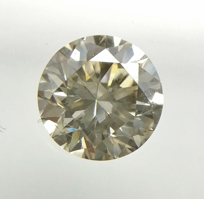 0.63 ct Round cut diamond Fancy Grayish Brown VS2  -No Reserve