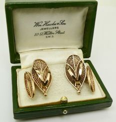 Antique filigree heavy 14.6g of Ashanti 18kt gold sandals cuff links, low reserve