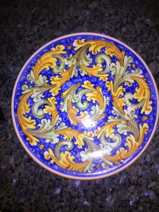 Caltagirone Ceramics, Signed - 2 Wall Plates and one Jug