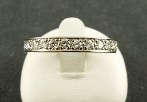 750 white gold - brilliant ring - diamond - ring size: 53 - 0.50 ct.