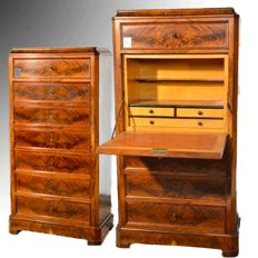 Secretaire in mahogany feather - France, 1870-1880