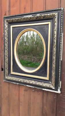Mirror frame time Napoleon III black and gold - France - end 19th century