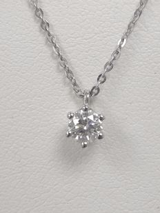 Damiani point of light Elettra necklace, 0.25 ct, colour G-H, clarity VVS-VS, 18 kt white gold, 45 cm (adjustable)