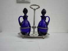 Oil and vinegar set in Empire style revival Italy, 20th century