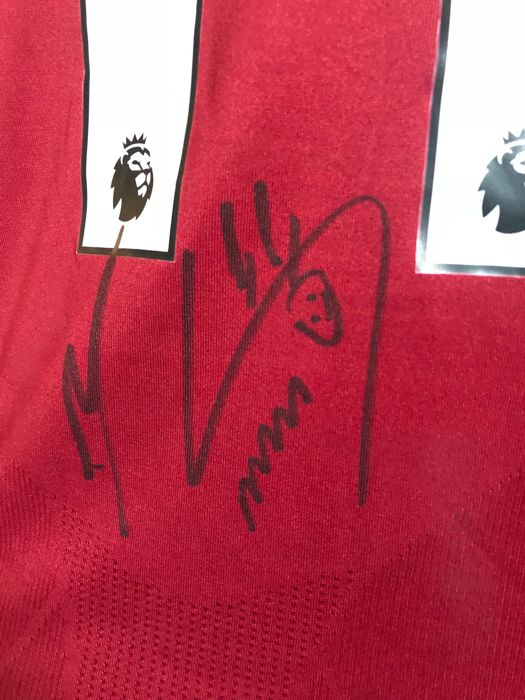 brand new 3bbdf 88954 Mohamed Salah signed Liverpool Fc home 2017-2018 shirt with ...