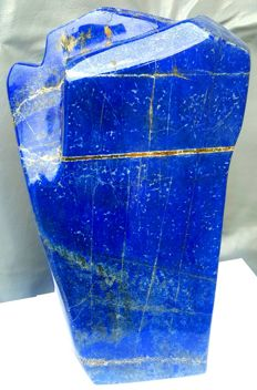 Large Top Blue color lapis Lazuli Healing Stone Tumble - 360 x 180 mm - 8450 gm