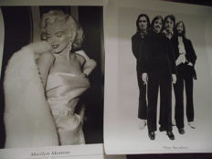 Very cool, rare Beatles photo print poster, plus Marilyn Monroe photo print poster ( approx' 80 cm x 60 cm ). Printed on very good quality photo paper.