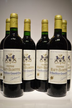 2001 Chateau Haut Badette, Saint-Emillion Grand Cru - 6 bottles