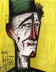 Bernard Buffet - Le clown jaune