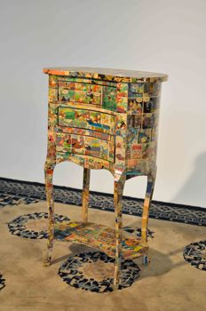 Pop art style bedside table - 1980 - Italy