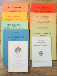 Ex-libris; Lot with 9 publications about ex-libris in various European countries - 1949 / 1979