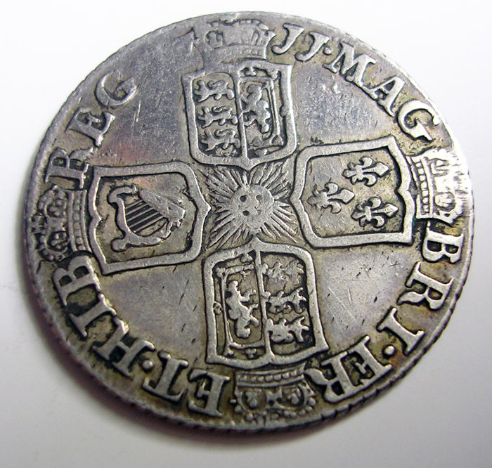 United Kingdom - 6 Pence 1711 Queen Anne - silver