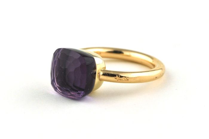 """Pomellato """"NUDO"""" Amethyst set on 18k Yellow Gold Ring - Current Size of Item (E.U Ring Size) :  +/- 52  *Re-sizable"""