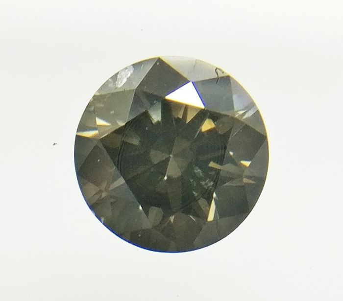 0.35 ct Round cut diamond Fancy Dark Grayish Brown SI1  -No Reserve