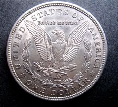 United States - Beautiful authenthic 1921 Morgan silver Dollar