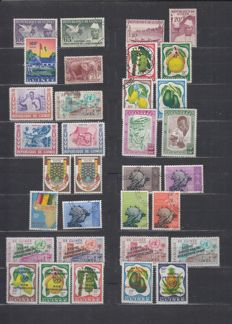 World - Batch of stamps and FDCs in stock books