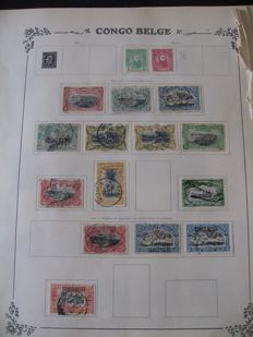 Belgian Congo - Collection of stamps