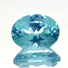 "Green apatite ""Paraiba colour"" - 1.55 ct"