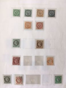 France - Very extensive study of cancellations / postmarks of foreign French post offices on classic French stamps