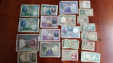 Spain - Lot of 114 Spanish banknotes (1925-1970)
