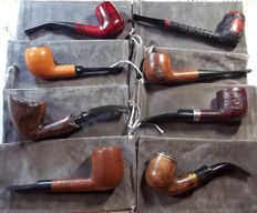 Lot of 8x heather briar pipes - 1980s/90s