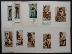 Book plates; Lot with 10 pin-up pictures - 1963/64