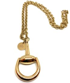 GUCCI Horsebit necklace, in 18 kt yellow gold – Length: 53 cm