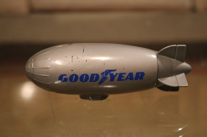 Vintage Goodyear Zeppelin bottle with aftershave, in box