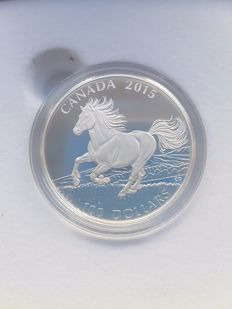 Canada - 100 Dollars 2015 'Canadian Horse' - silver
