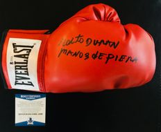 Roberto Duran - Authentic & Original Signed Everlast Red Boxing Glove - with Certificate of Authenticity BECKETT