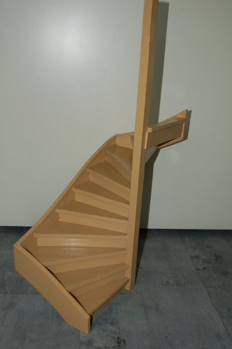Staircase Model Scale 1: 8 From An Old Handicraft School, Old Instruction  Model,
