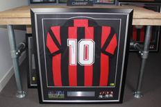 Ruud Gullit signed AC Milan shirt - framed and with official certificates of authenticity and photo proof