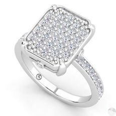 White gold ring with 0.84 ct brilliant cut F - G (fine white) / VS diamonds - Free resizing