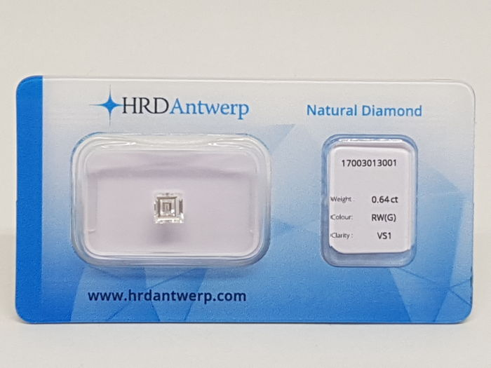 0,64 ct. Rectangle Cut Diamond G VS1