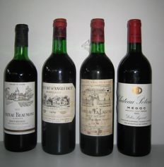 1979 Château D'Angludet, Cru Bourgeois Exceptionnel x 1 bottle -  1976 Château La Lagune, 3E Cru Classé x 1 bottle - 1979 Château Beaumont, Cru Bourgeois x 1 bottle - 1985 Château Potensac, Cru Bourgeois x 1 bottle / 4 bottles in total