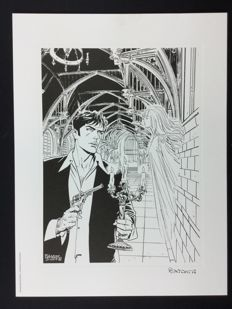 "Brindisi, Bruno - artwork Dylan Dog ""Il Fantasma di Anna Never"""
