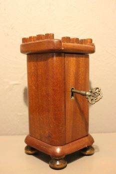 Oak Biedermeier church collecting box - the Netherlands - 1st half of the 19th century