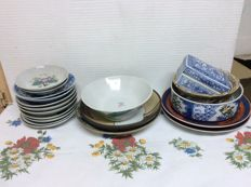 Lot of 19 pieces in porcelain - China - 20th century
