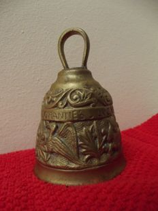 Apostle bell with clapper - bronze - 19th century