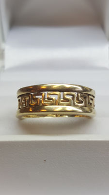 14 kt yellow gold women's ring - size 17