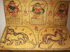 """Burmese traditional palm leaf manuscript """"Mahabote"""" horoscope - without date (20th century)"""