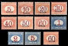 Libya 1915/1925 - Postage due, complete series - Sassone S69 and 11